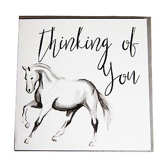 Gubblecote Pony Thinking Of You Greetings Card