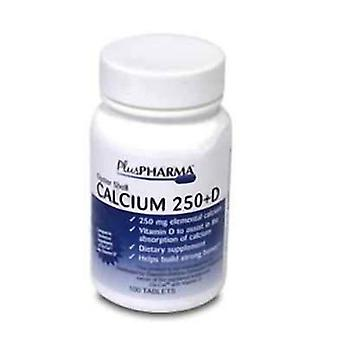 Plus pharma oyster shell calcium with d, tablets, 100 ea