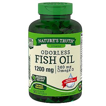 Nature's truth odorless fish oil, 1200 mg/360 mg, omega-3, softgels, 90 ea