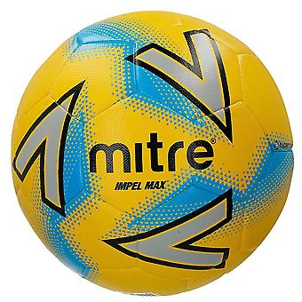 Mitre Impel Max Training Football Soccer Ball Yellow/Silver/Blue