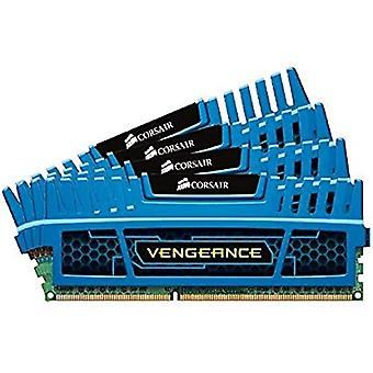 قرصان CMZ16GX3M4A1600C9B الانتقام عالية الأداء 16 غيغابايت (4x4 GB)، DDR3، 1600 ميغاهرتز، CL9، مع دعم XMP، الأزرق