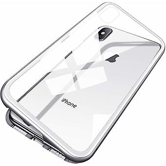 iPhone X/XS magnetic shell with hardened glass screen protector