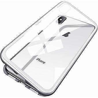 iPhone X/XS magneettinen kuori karkaistu lasi näytön suoja