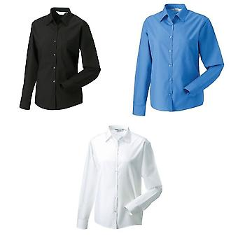 Russell Collection Ladies/Womens Long Sleeve Shirt