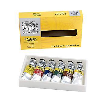 Winsor & Newton Galleria Acrylic Set (Set of 6 x 60ml Tubes)