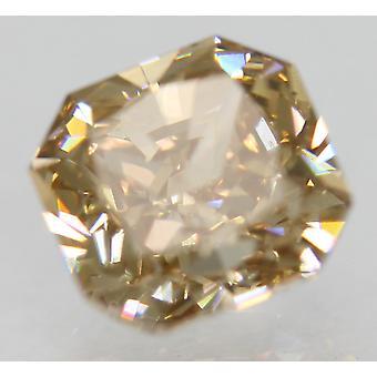 Cert 1.27 Carat Fancy Brown VVS2 Radiant Natural Loose Diamond 6x5.75mm 2EX
