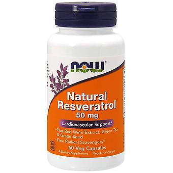 Now Foods Natural Resveratrol 200 mg 60 Capsule