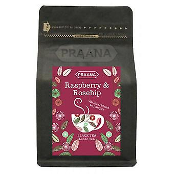 Praana Tea - Ceylon Black Tea With Raspberry & Rosehip Pieces - 100g