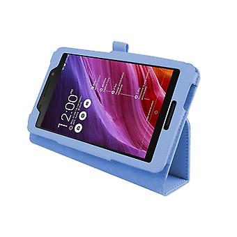 "Magnetic PU Leather Case Cover for Asus FonePad FE375CG 7""[Light Blue]"