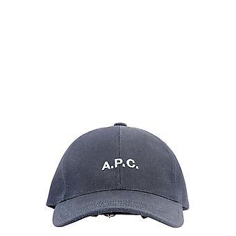 A.p.c. Cocsxm24069iai Men's Blue Cotton Hat