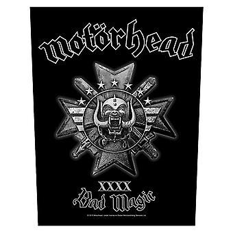Motorhead Backpatch Bad Magic Logo Official New Black Cotton Sew On 36cm x 29cm