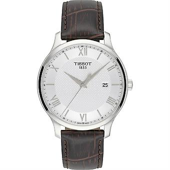 Tissot T063.610.16.038.00 Silver Dial Brown Leather Men's Watch