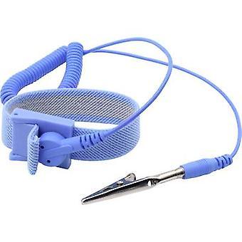 رباعية ESD حزام المعصم الأزرق 10 مم مسمار ومأخذ