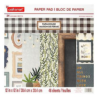 Craft Smith Farmhouse 12x12 Inch Paper Pad
