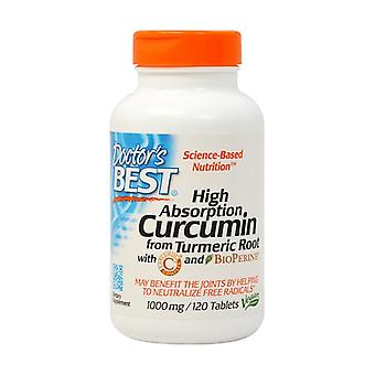 Hoge absorptie Curcumine van kurkuma wortel met C3 Complex & BioPerine, 1000mg 120 tabletten