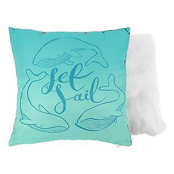 Something Different Set Sail Whale Cushion