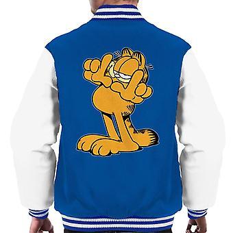 Garfield finger Frame menn ' s Varsity Jacket