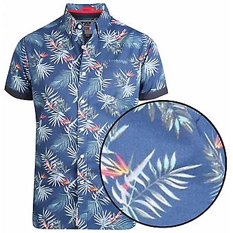 DUKE Duke Leaf Print Short Sleeve Shirt