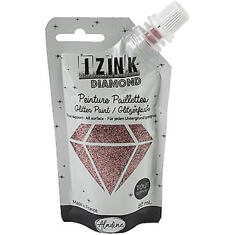 Aladine Izink Diamond Glitter Paint Powder Pink 80ml.