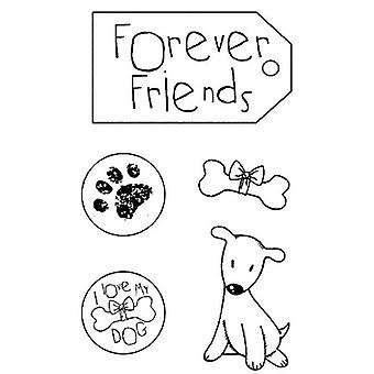 Natural Rubber Stamp Forever Friends (WTKCC60)