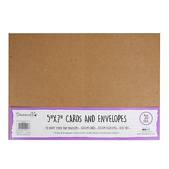 Dovecraft Kraft 5x7 Cards & Envelopes (50pcs) (DCBS201)