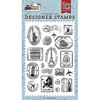 Sellos de viaje de Echo Park Clear Stamps