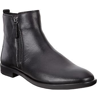 Ecco Womens Shape M 15 Läder Slip På Casual Chelsea Boot Shoe - Svart