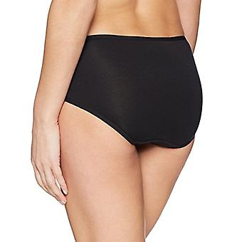 Merk - Arabella Women's Modal Lace Waistband Brief, 3 Pack, Black,Medium