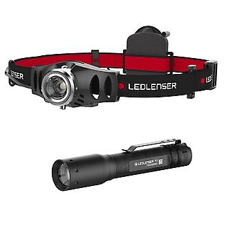 LED Lenser H3.2 head torch with P3 pocket torch - Genuine LEDlenser - gift boxed