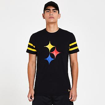 New Era Nfl Pittsburgh Steelers Logo Elements Black T-shirt