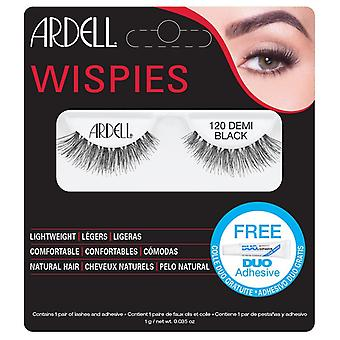 Ardell Wispies Falske vipper - 120 Sort - Natural Hair Falsies med DUO Lim