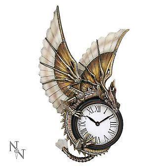 Nemesis agora - dragão steampunk - relógio de lareira