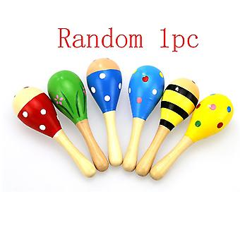 6 colores 1pc bebé rattle para el niño educativo- colorido martillo de arena musical