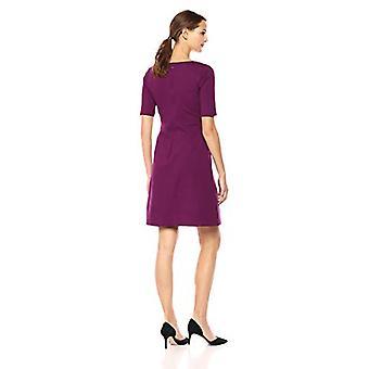 Marke - Lark & Ro Frauen's Half Sleeve Twist Front A-Line Ponte Kleid, ...
