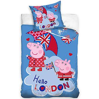 Peppa Pig London Single Duvet Cover Set - European Size
