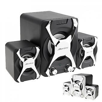 High Power 3d-stereo Subwoofer 2.1, Pc-speaker Portable Bass Music Dj Soundbar