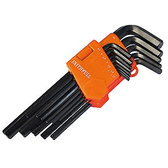 Faithfull Hex Key Long Arm Set of 13 Metric (1.3-10mm) FAIHKS13ML