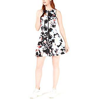 Bar III   Sleeveless Printed Fit & Flare Dress
