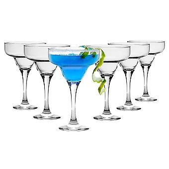 Rink Drink 6 Piece Margarita Cocktail Glasses Set - Classic Style Party Drinking Barware - 295ml