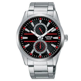 Lorus Herren Kleid Armband Uhr auf strukturierten schwarzen Zifferblatt (Modell Nr. R3A57AX9)