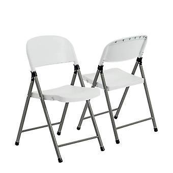 6 Piece Heavy Duty Plastic Folding Chair Set - Easy Store Office Chairs Seating Events Arts and Crafts -
