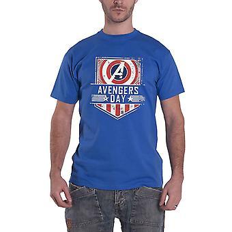 الأعجوبة تي شيرت المنتقمون يوم شعار بالأسى جديد الرسمية الرجال الأزرق