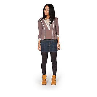 Mini skirt with creasing effect - indigo
