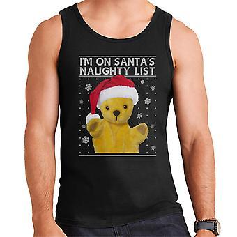 Sooty Christmas Im Sur Santas Naughty List Men's Vest