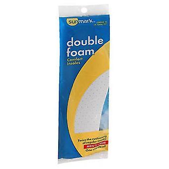 Sunmark Double Foam Comfort Insoles Mens, 1 each