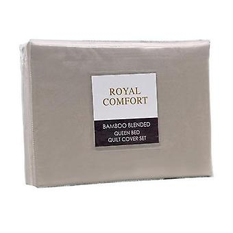 Royal Comfort Bamboo Blended Quilt Cover Set Ultra Soft Double