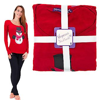 Ladies Christmas PJ'S Red Snowman size 16