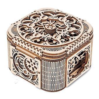 Wooden Combination Creative Wooden Mechanical Transmission Model Treasure Box /