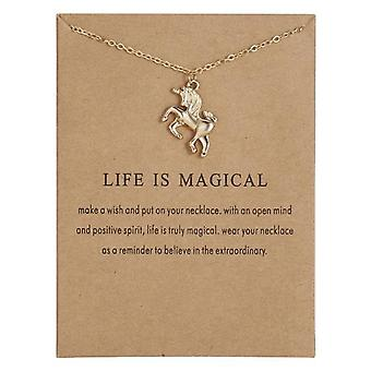 Life is magical - necklace 18K gold plated gift