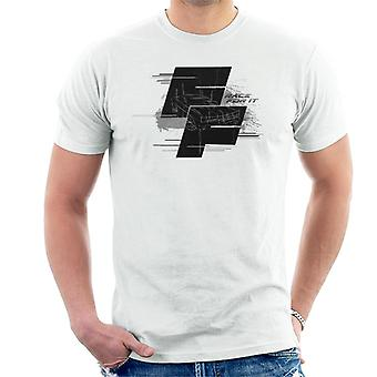 Fast and Furious Dodge Charger Race For It Montage Men's T-Shirt